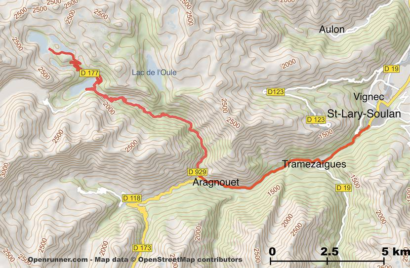 Map of the Route des Lacs